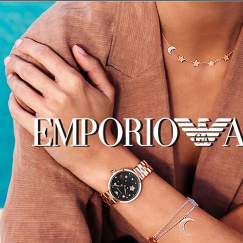 阿玛尼(EmporioArmani)满天星手表 张钧甯同款系列钢制表带 圆形石英女士手表 AR1926