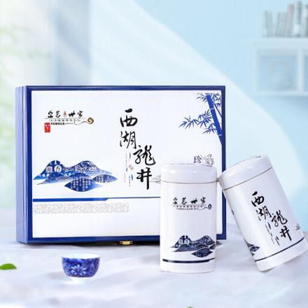 茶葉綠茶西湖龍井茶禮盒裝 明前特級精品