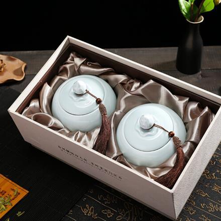 2020新茶 明前精品A龙井绿茶250g陶瓷礼盒装西湖