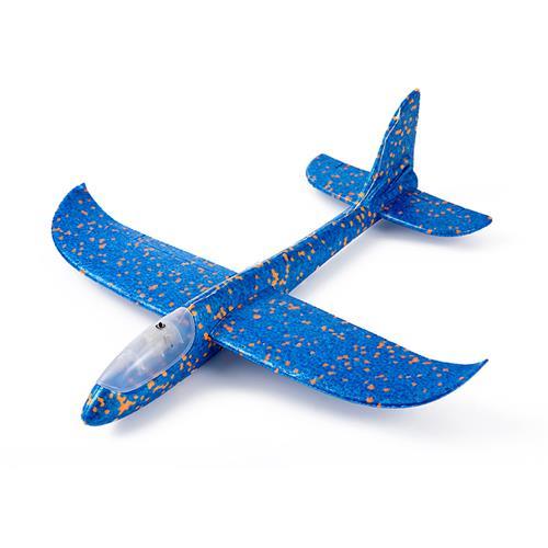 爸爸媽媽(babamama)滑翔飛機 大號48cm手擲手拋泡沫飛機拼插航模戶外游戲 藍點新舊款隨機 B2013 SY004