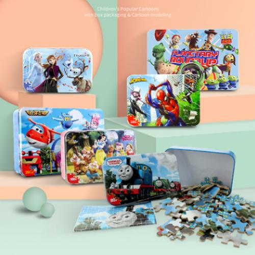 迪士尼(Disney)美人魚公主100片鐵盒木質拼圖玩具 兒童拼圖女孩禮物(古部拼圖)11DF2425