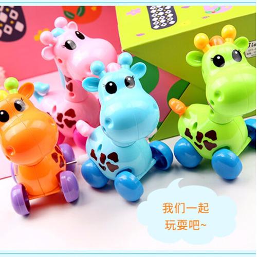 4個裝嬰兒上弦上鏈兒童發條玩具小動物會跑會動上勁小孩男女孩寶寶3-6歲益智爬行玩具顏色隨機 八爪魚+毛毛蟲+老鼠+烏龜(顏色隨機