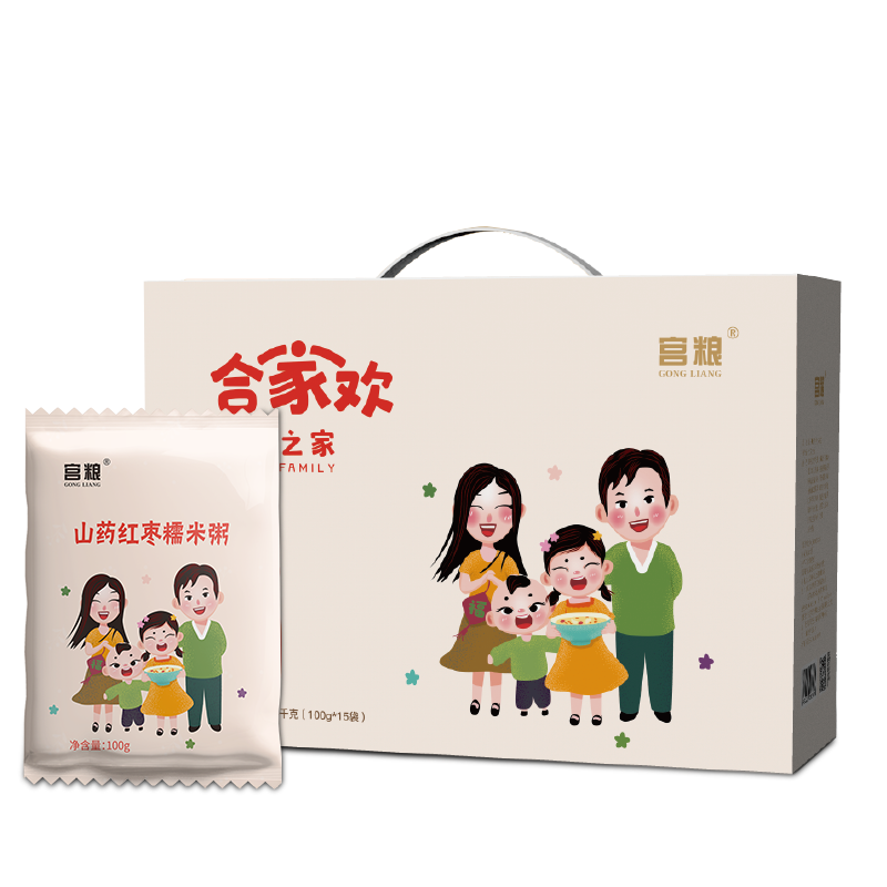 宫粮每日粥米礼盒—幸福之家1500g