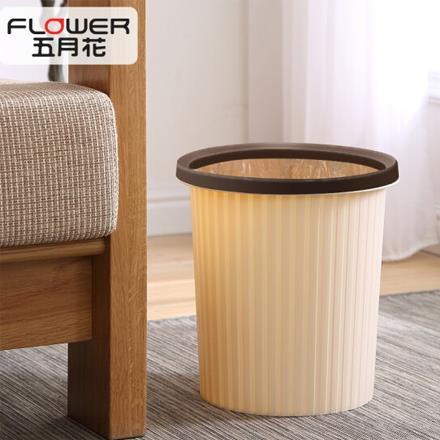五月花 壓圈分類垃圾桶塑料衛生桶 家用臥室廚房衛生間辦公環保耐用大容量紙簍11L WYH-GB102
