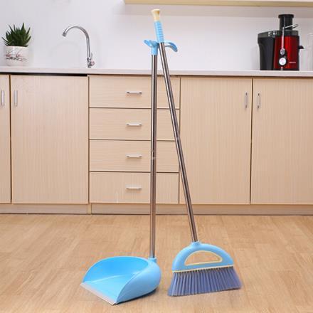 雅高 掃把 掃帚畚箕超值2件套裝 天空藍