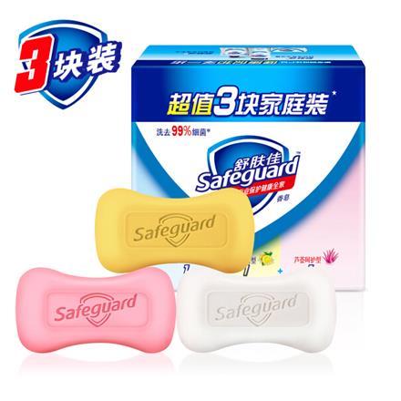 舒膚佳香皂混合三塊促銷裝115gX3(純白清香+檸檬清新+蘆薈呵護)(溫和潔凈 新老裝隨機發貨)