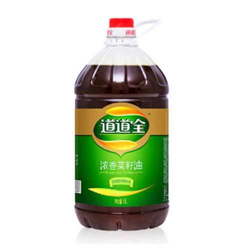 道道全食用油 浓香菜籽油5L 滴滴浓香 物理压榨非转基因食用油
