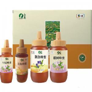 中粮山萃田园蜜语蜂蜜礼盒1500g枸杞蜜龙眼蜜荆条蜜椴树蜜组合装