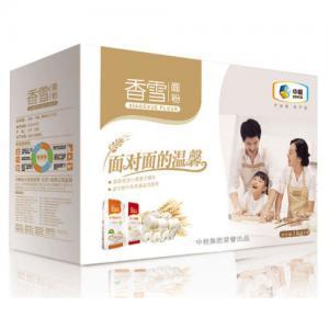 中糧香雪面對面面粉禮盒4KG家用面粉多用途小麥粉筋爽餃子粉