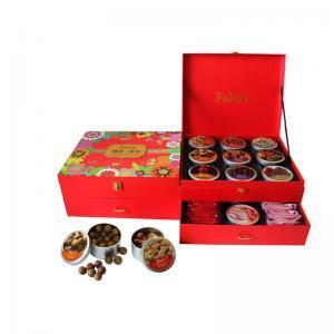 法樂茲糕點禮盒堅果禮盒 高檔高端禮盒送禮禮品西餅奶香酥堅果巧克力組合裝大禮包 慰問禮品零食小吃 臻選花語1531g