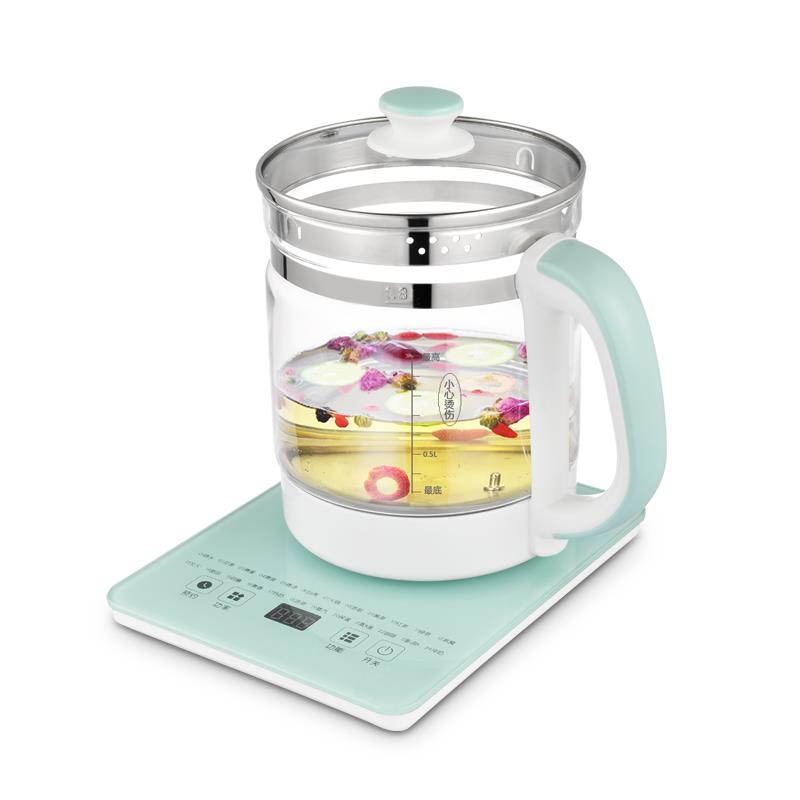 索洋智能养生壶 电水壶煮茶器热水壶烧水壶电热水壶迷你玻璃煮茶壶 1.8L SY-YS006