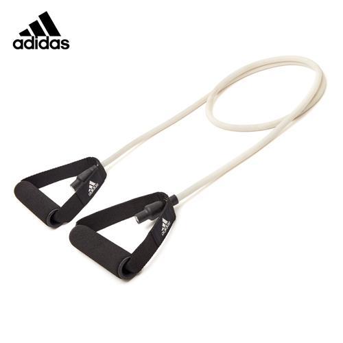 阿迪达斯 拉力器家用运动拉力绳弹力带一字健身乳胶弹力带男力量训练可调节弹力带 米白色ADTB-10501