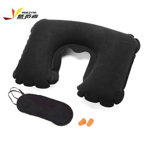 悠拓者 旅游三宝(pvc植绒气枕+涤纶眼罩+慢弹隔音耳塞) YT-JS101