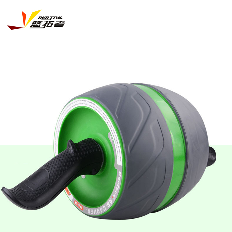 健腹轮套装腹肌轮收腹机自动回弹滚轮健身轮静音巨轮运动健身器材