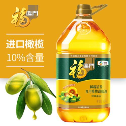 中粮福临门橄榄清香食用植物调和油5L