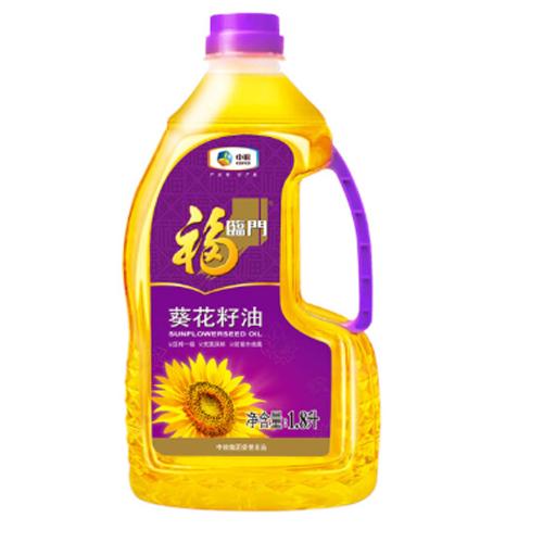 福临门 食用油 压榨一级充氮保鲜葵花籽油1.8L 中粮出品