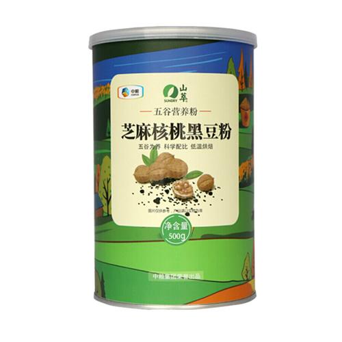 中粮山萃芝麻核桃黑豆营养粉500g冲饮谷物营养代餐粉 芝麻核桃营养粉
