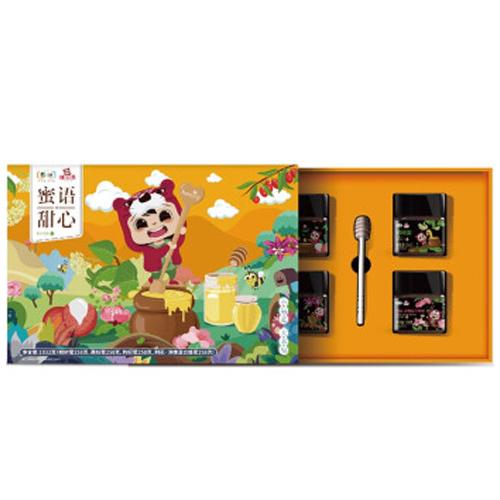 中粮福小满 蜜语甜心蜂蜜礼盒1032g