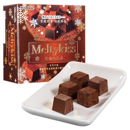 明治meiji 雪吻巧克力盒装 八种口味可选 夹心巧克力 可可口味_62g