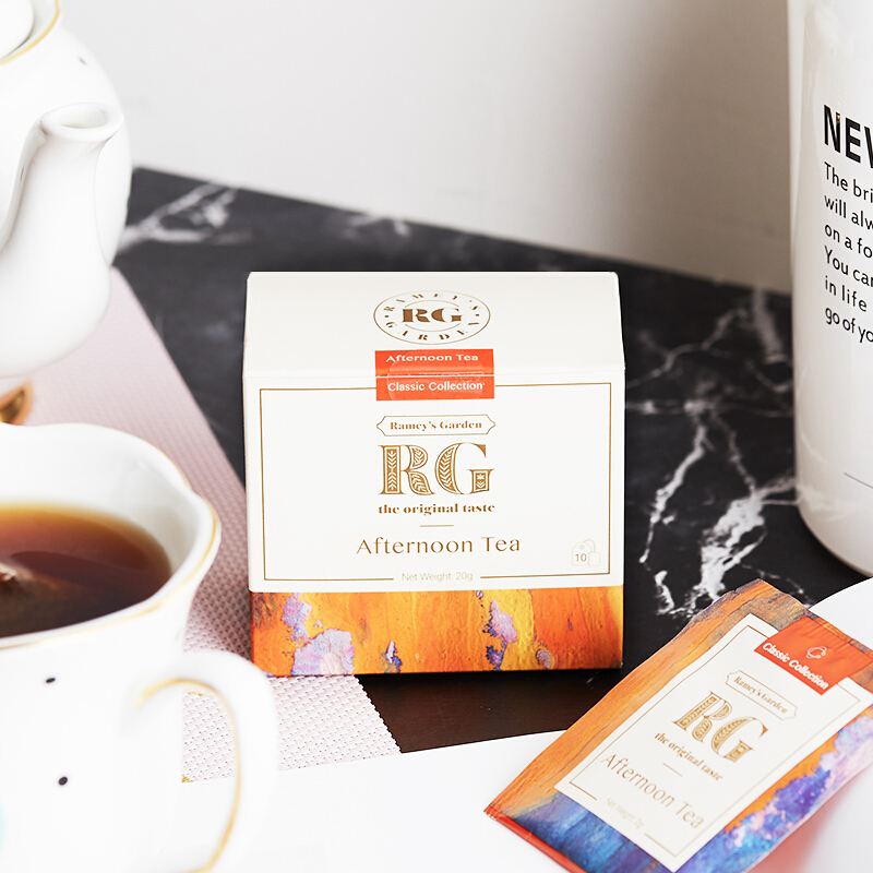 RG蕾米花园(Ramey's Garden)斯里兰卡锡兰红茶 进口茶叶 英式下午茶原味红茶包 袋泡茶2g*10包