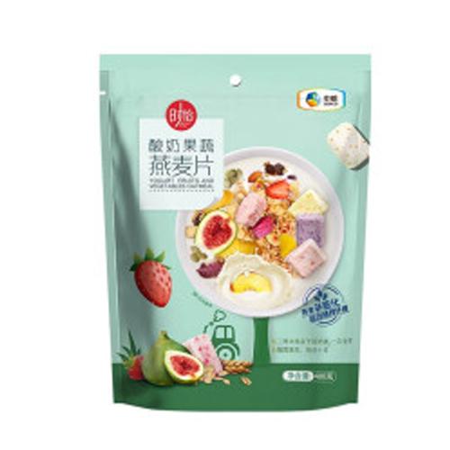 中粮时怡酸奶果蔬燕麦片即食早餐燕麦片 酸奶果蔬燕麦片袋装400g
