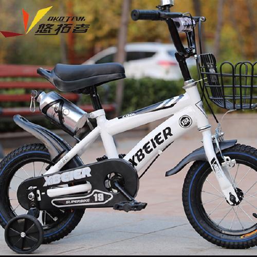 悠拓者儿童车自行车YT-C03001(白色)14寸   适用于3-7岁宝宝