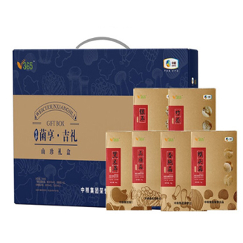 中粮粮小买唯粹菌享吉礼菌菇礼盒370g