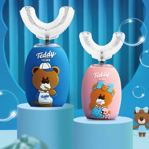 泰迪奥利给儿童智能U型牙刷(颜色随机)