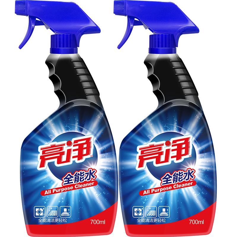 亮净全能水700ml*2瓶 大扫除清洁剂汽车清洁车窗玻璃桌椅搞卫生专用全家清洁 多用途清洁剂