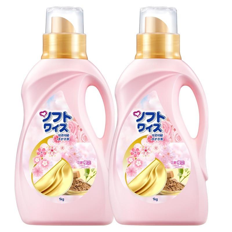日本卫新可柔可顺柔顺剂1Lx2瓶 黄金软纺衣物护理剂 2瓶组合装