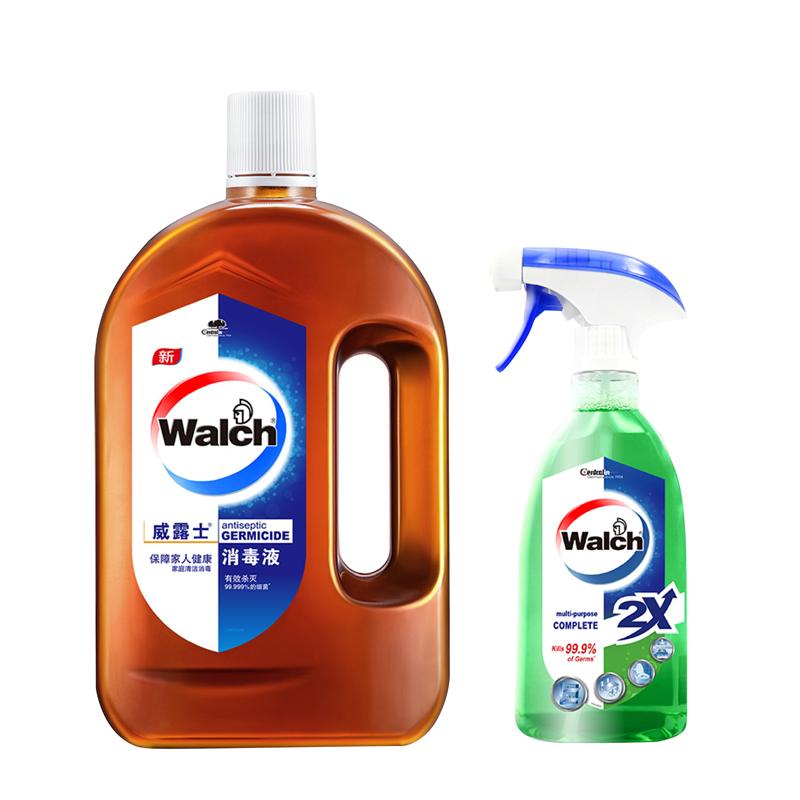 威露士 高浓度消毒液1L+多用途杀菌喷雾500ml 组合装