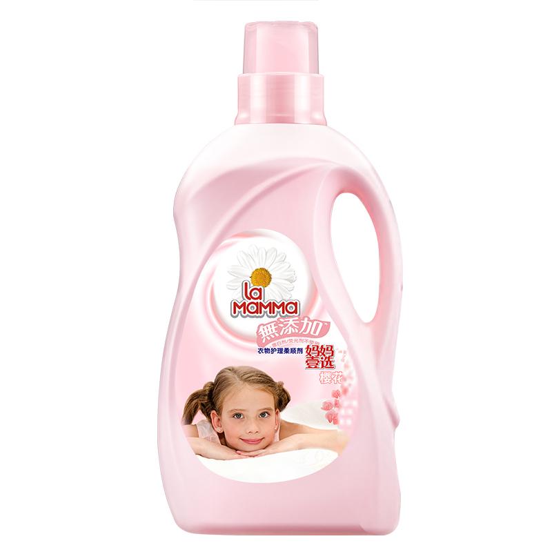 威露士抗菌有氧洗衣液柠檬3L+妈妈壹选衣物护理柔顺剂樱花1060ml