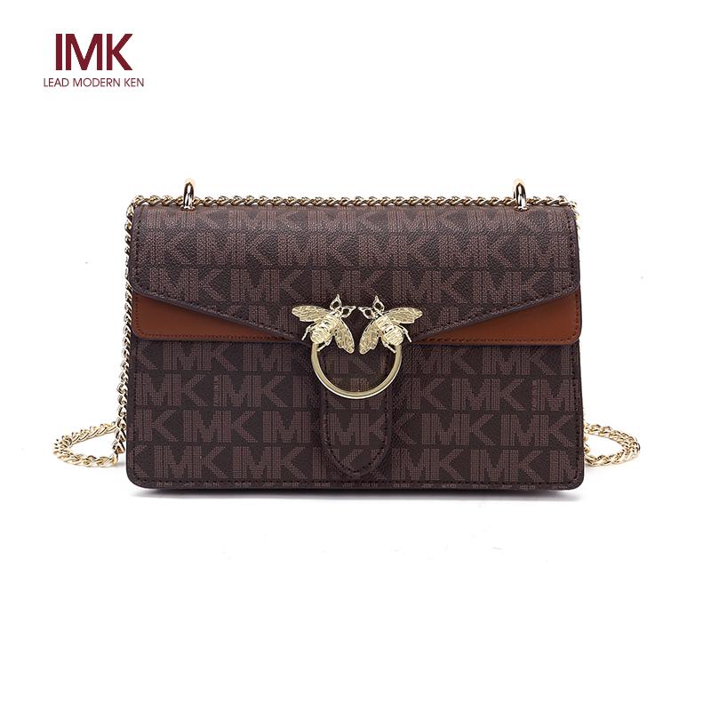法国L MK名牌包包女2020新款时尚百搭斜挎包链条小方包蜜蜂单肩包