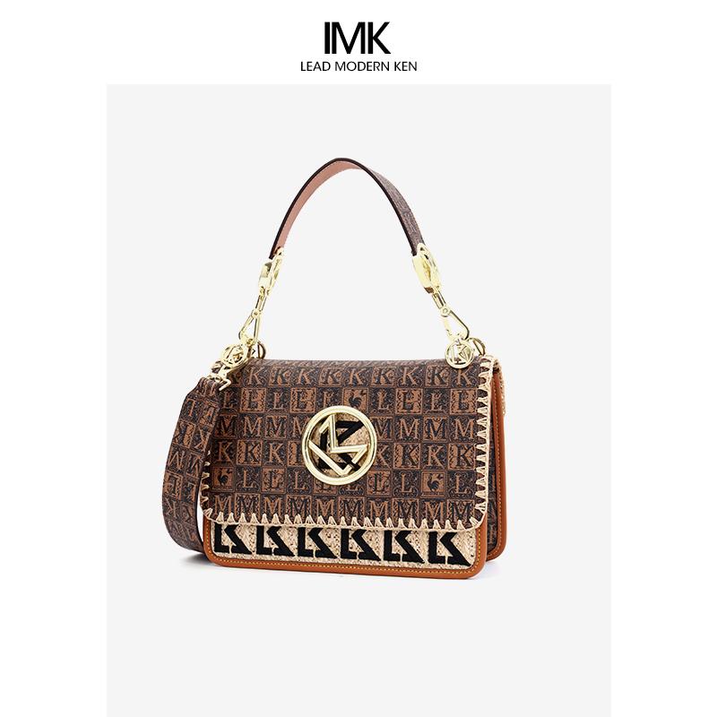 法国LMK大牌奢侈品女包包2021新款时尚高级感名牌斜挎包洋气小MK