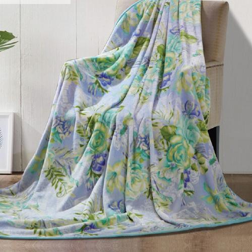 富安娜琉璃玉翠法兰绒毯