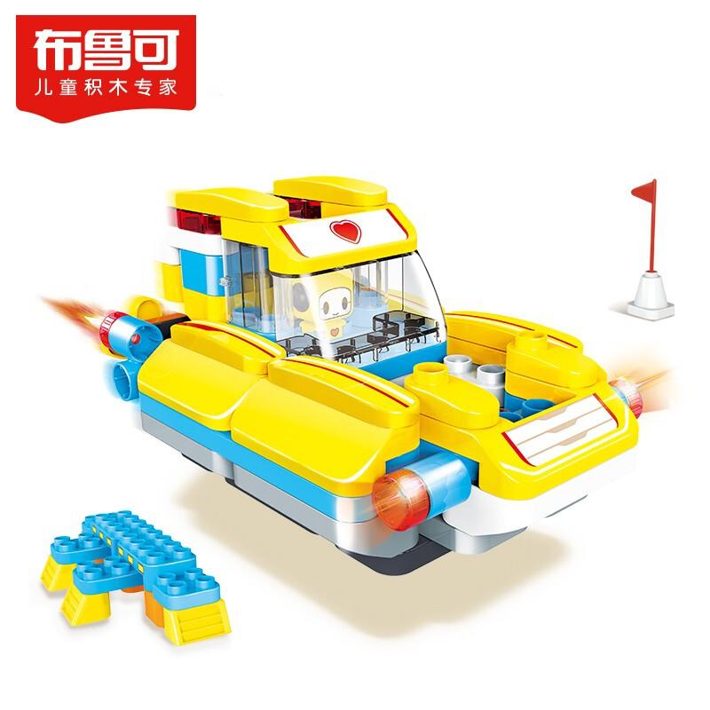 布鲁可 大颗粒积木 儿童玩具 布鲁克男孩女孩玩具百变布鲁可拼装积木车 交通工具系列-可可百变气垫船