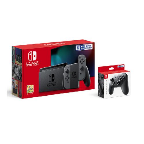 任天堂(Nintendo) Switch NS掌上游戏机 续航增强版 红蓝手柄主机 便携家用体感掌机 灰色