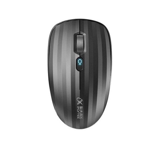 科大讯飞智能鼠标 飞鼠无线语音鼠标办公充电鼠标语音打字语音控制语音翻译 灰色