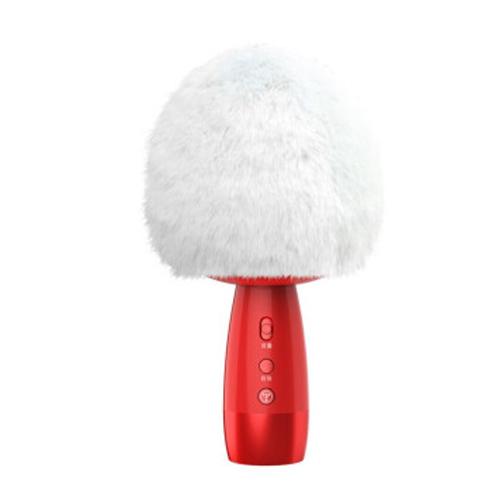 途讯 V3蘑菇头小巨蛋 话筒音响一体麦克风 全名K歌神器 家庭KTV麦克风 白色海绵套